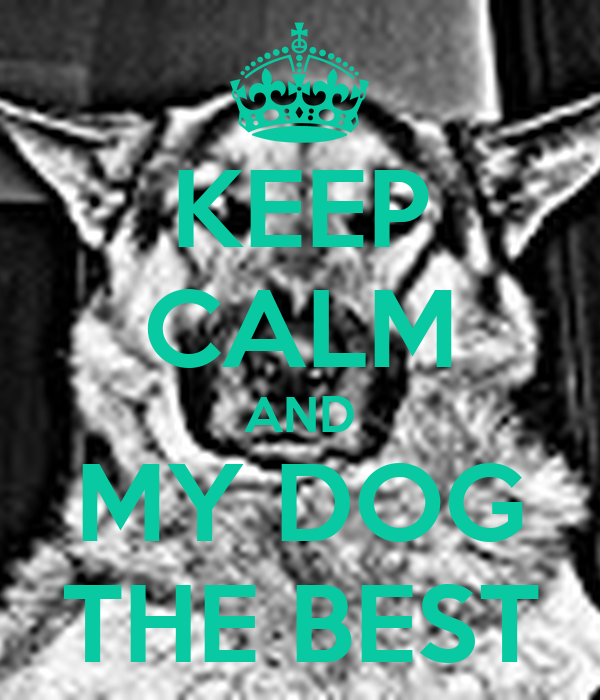 KEEP CALM AND MY DOG THE BEST