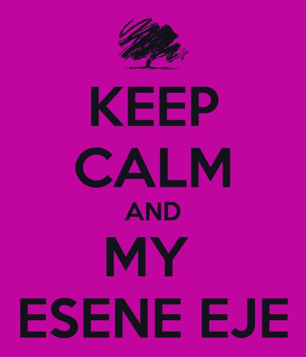 KEEP CALM AND MY  ESENE EJE