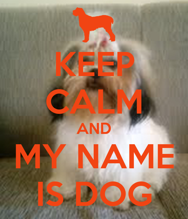 KEEP CALM AND MY NAME IS DOG
