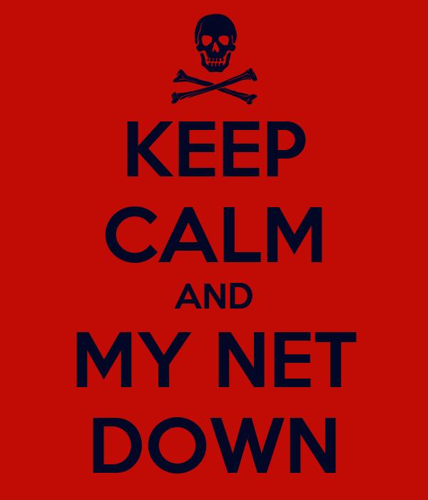 KEEP CALM AND MY NET DOWN