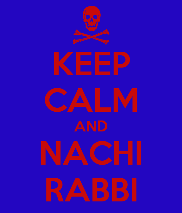 KEEP CALM AND NACHI RABBI