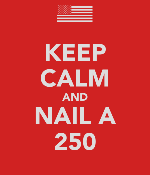 KEEP CALM AND NAIL A 250