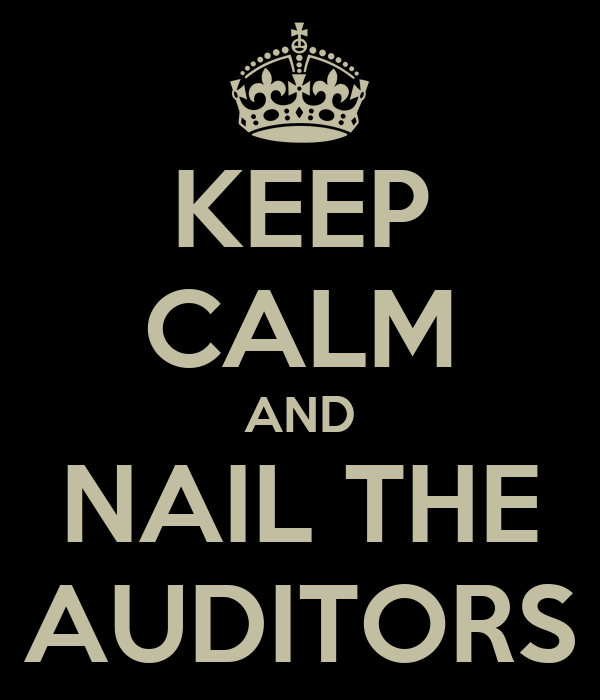 KEEP CALM AND NAIL THE AUDITORS