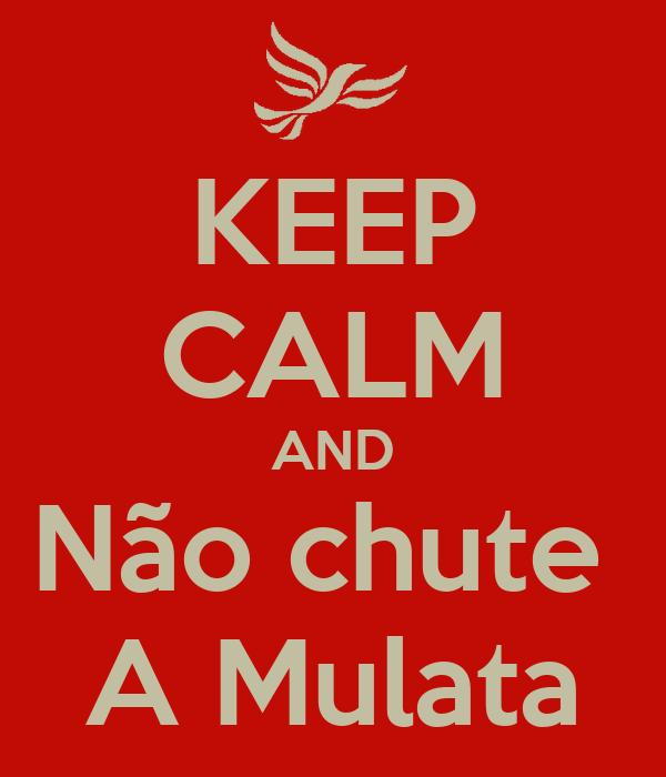 KEEP CALM AND Não chute  A Mulata