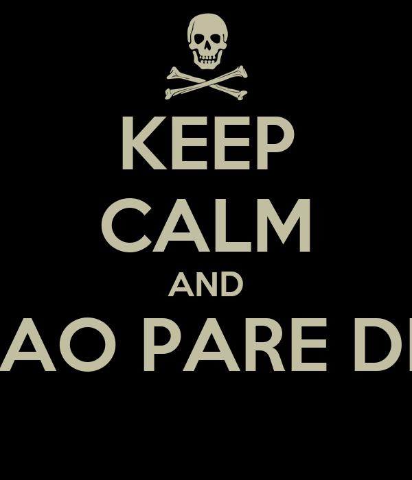 KEEP CALM AND NAO PARE DE