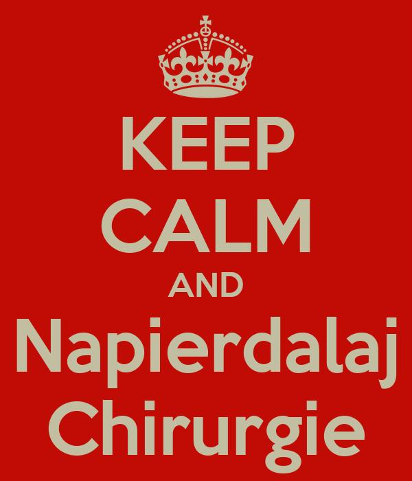 KEEP CALM AND Napierdalaj Chirurgie