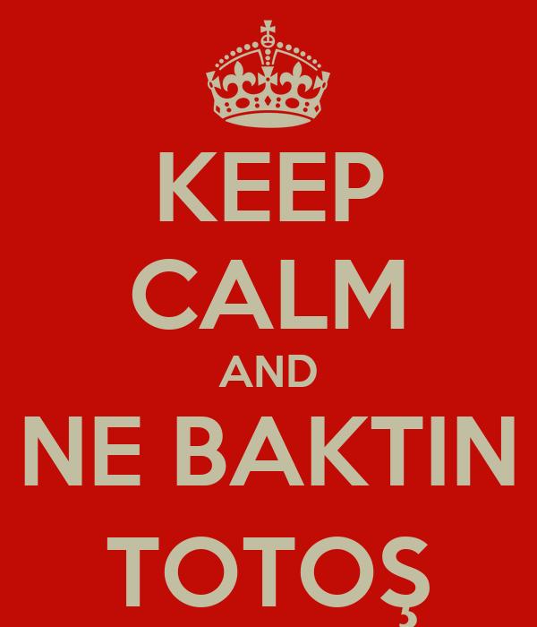 KEEP CALM AND NE BAKTIN TOTOŞ