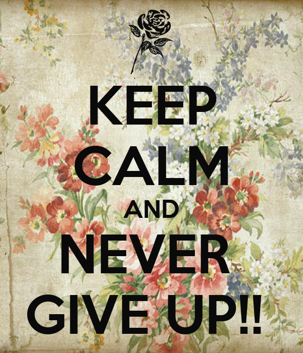 KEEP CALM AND NEVER  GIVE UP!!