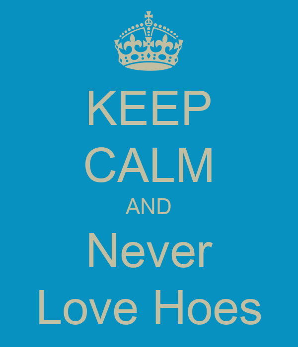 KEEP CALM AND Never Love Hoes