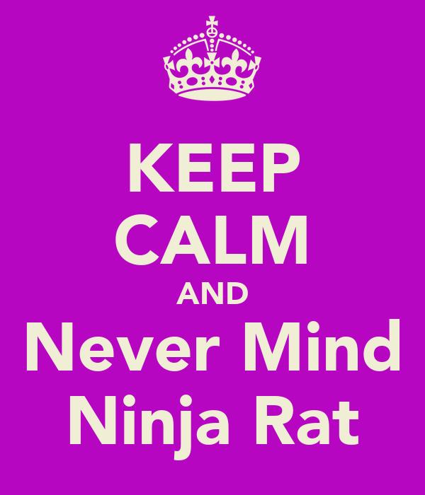 KEEP CALM AND Never Mind Ninja Rat