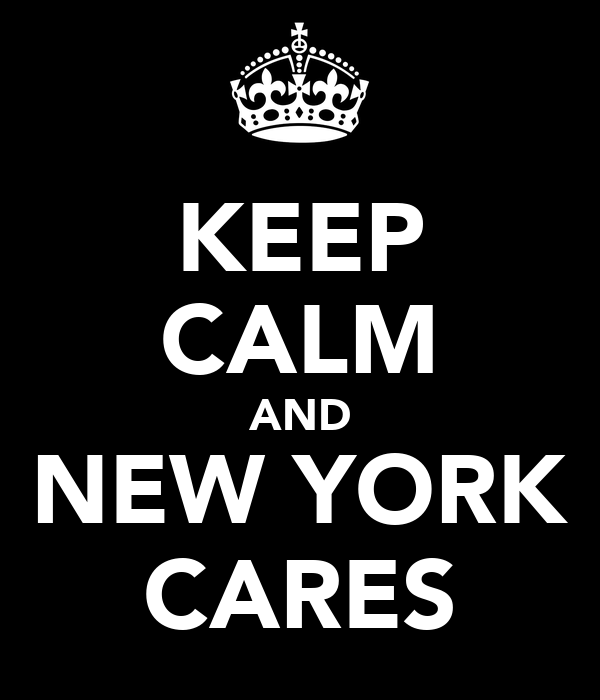 KEEP CALM AND NEW YORK CARES