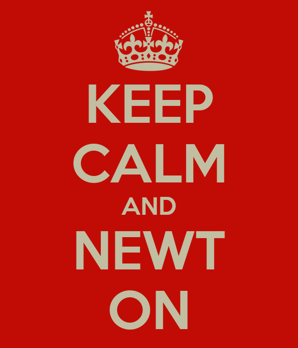 KEEP CALM AND NEWT ON