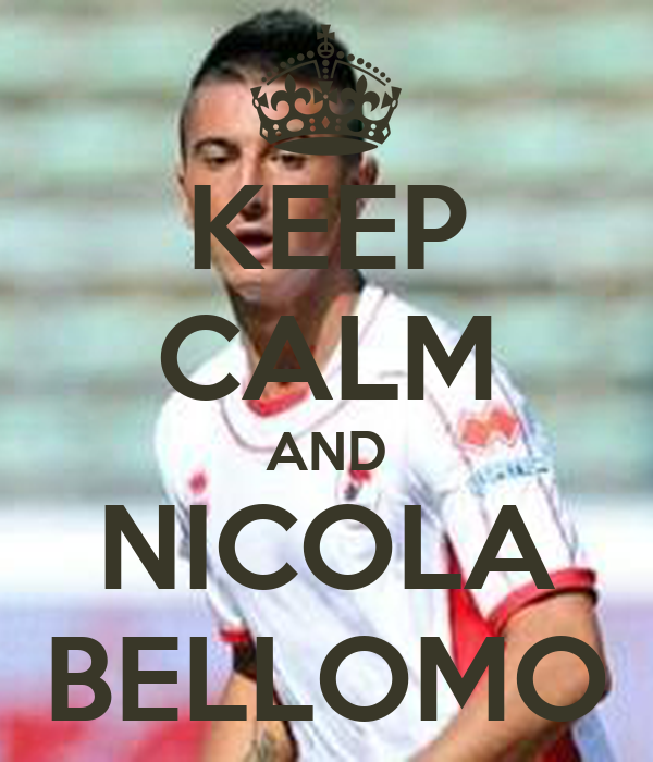 KEEP CALM AND NICOLA BELLOMO