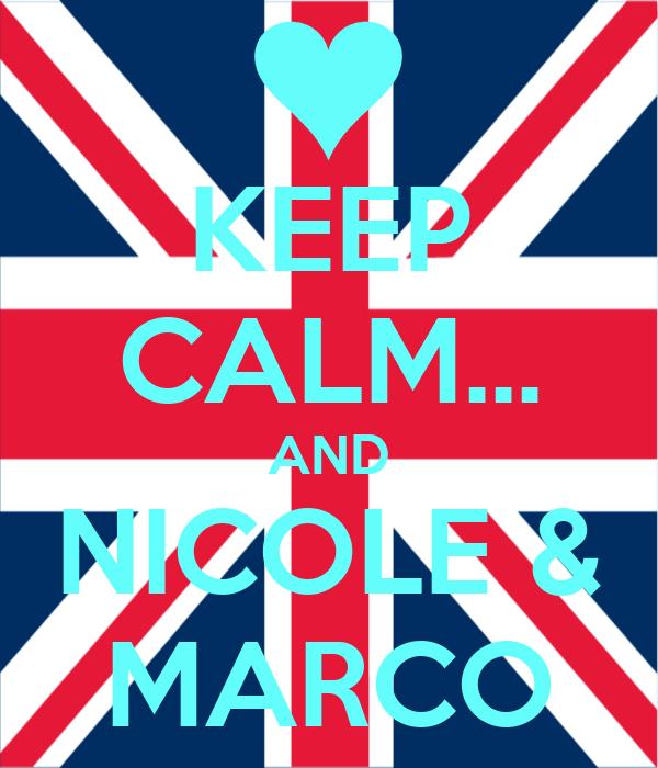 KEEP CALM... AND NICOLE & MARCO