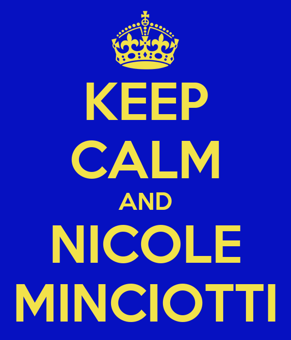 KEEP CALM AND NICOLE MINCIOTTI