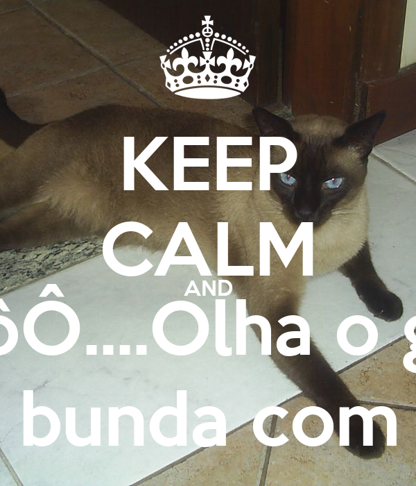 KEEP CALM AND NinôôÔ....Olha o gato... Ahhhh se fudê, limpa a bunda com o gato, gato do Kralho!
