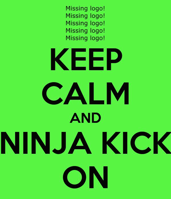 KEEP CALM AND NINJA KICK ON