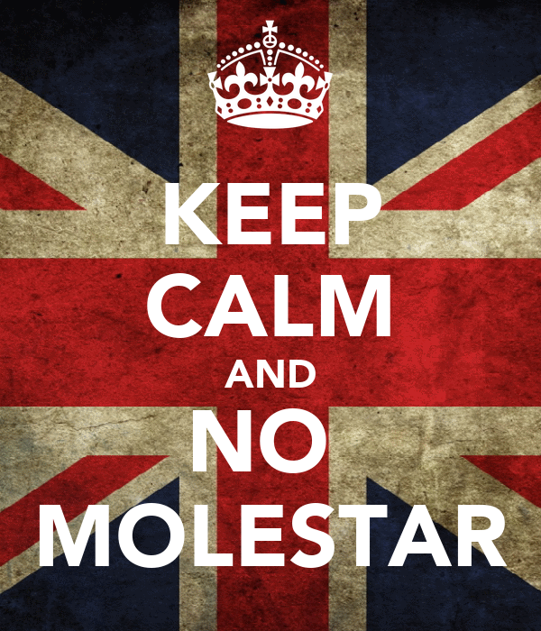 KEEP CALM AND NO  MOLESTAR