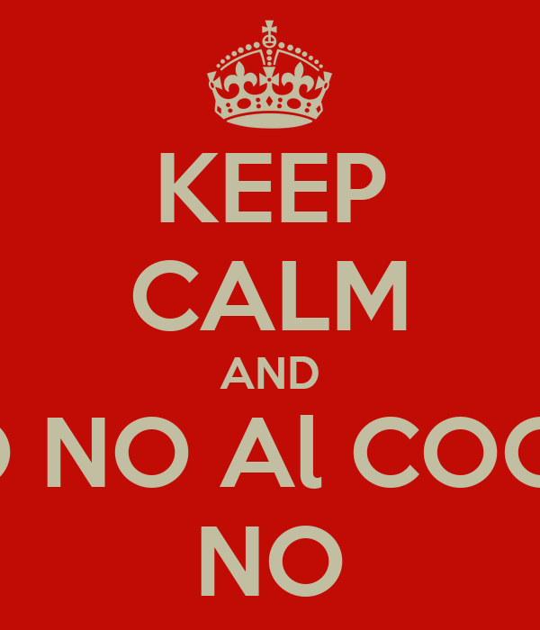 KEEP CALM AND NO NO Al COCO  NO