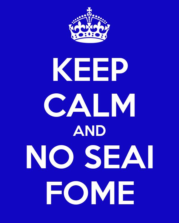 KEEP CALM AND NO SEAI FOME