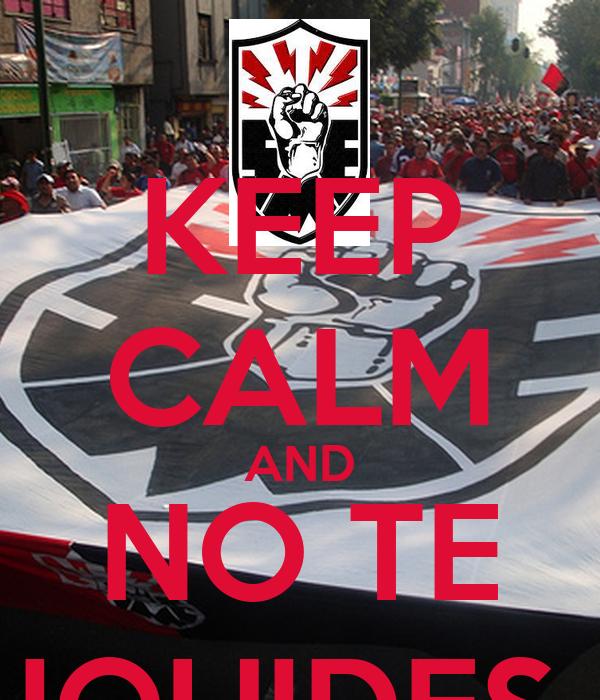 KEEP CALM AND NO TE LIQUIDES !!