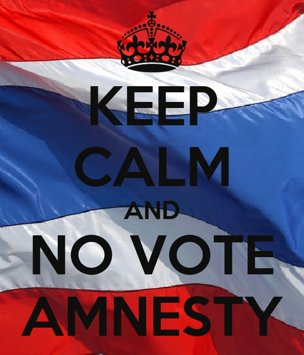 KEEP CALM AND NO VOTE AMNESTY