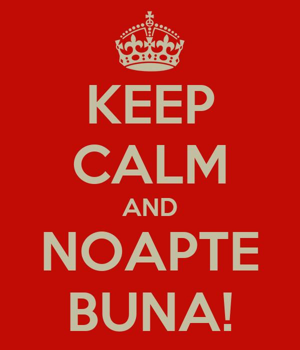 KEEP CALM AND NOAPTE BUNA!