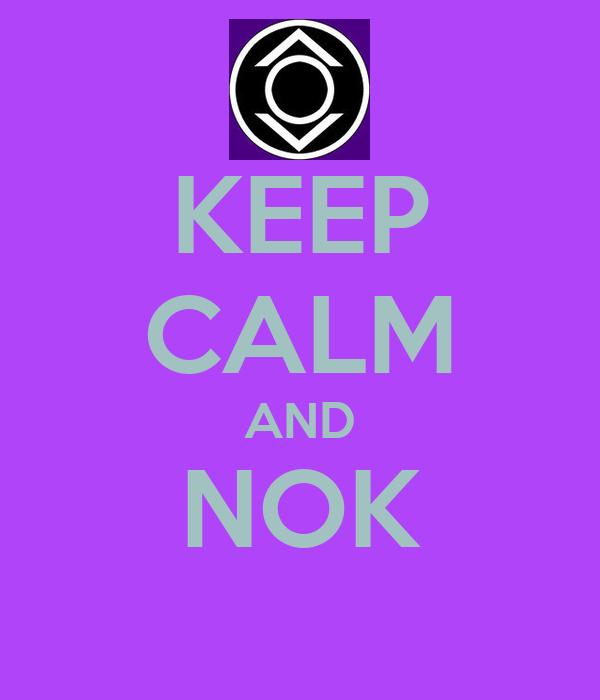 KEEP CALM AND NOK
