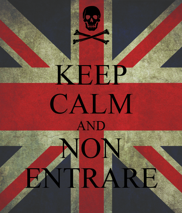KEEP CALM AND NON ENTRARE