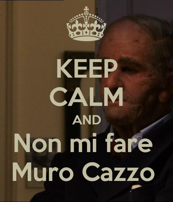 KEEP CALM AND Non mi fare  Muro Cazzo