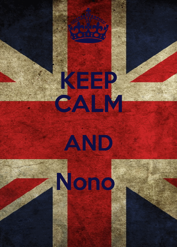 KEEP CALM AND Nono