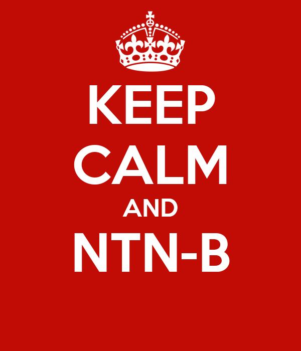 KEEP CALM AND NTN-B