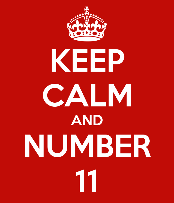 KEEP CALM AND NUMBER 11
