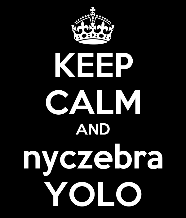 KEEP CALM AND nyczebra YOLO