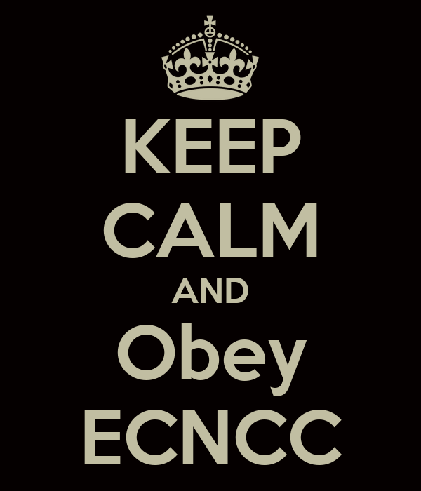 KEEP CALM AND Obey ECNCC