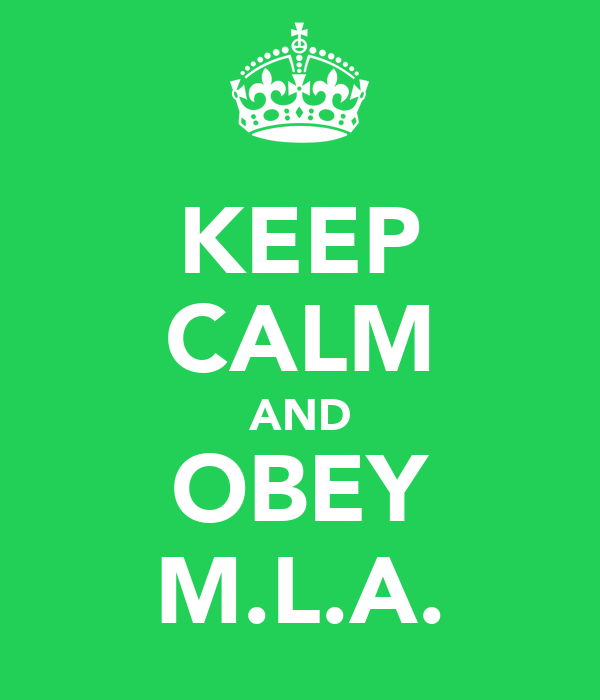 KEEP CALM AND OBEY M.L.A.