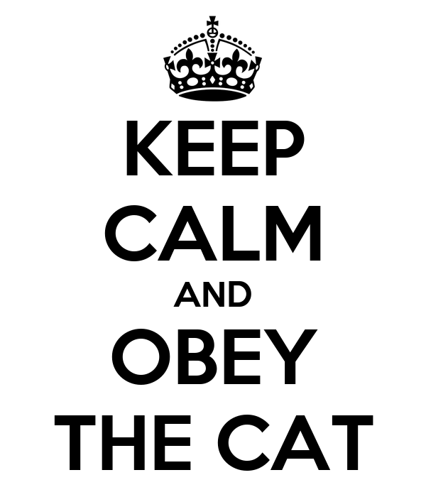 KEEP CALM AND OBEY THE CAT
