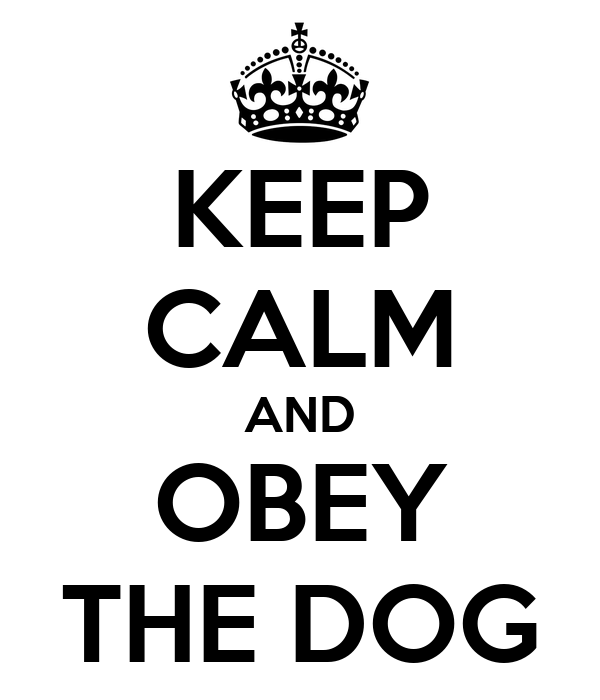 KEEP CALM AND OBEY THE DOG