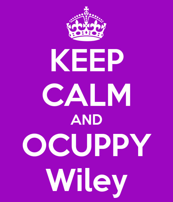KEEP CALM AND OCUPPY Wiley