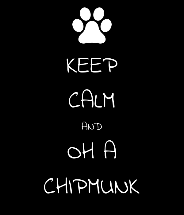 KEEP CALM AND OH A CHIPMUNK