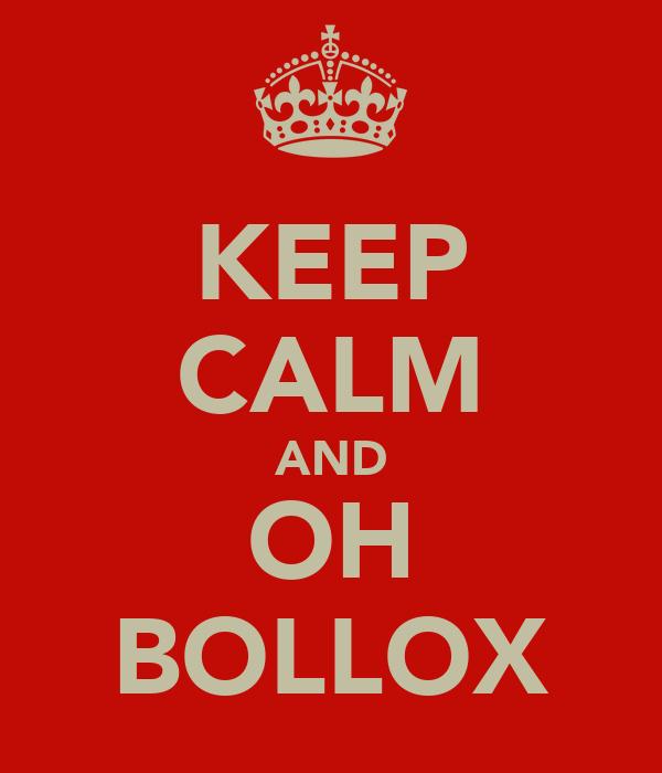KEEP CALM AND OH BOLLOX