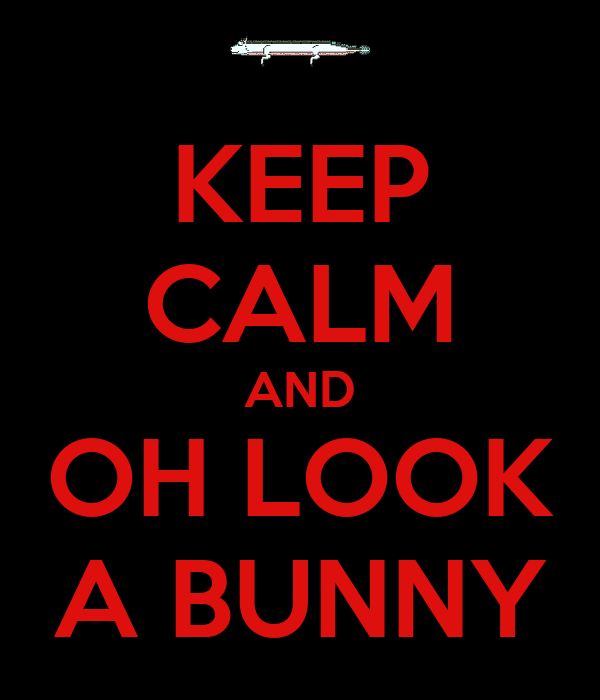 KEEP CALM AND OH LOOK A BUNNY
