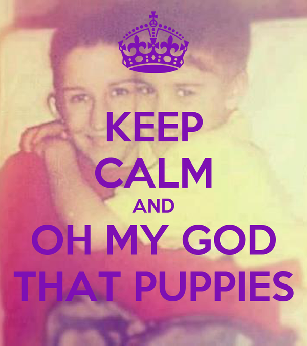 KEEP CALM AND OH MY GOD THAT PUPPIES
