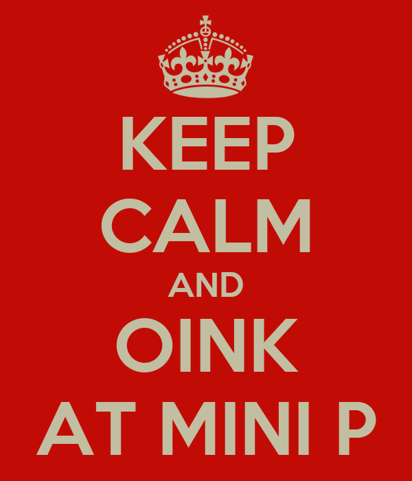 KEEP CALM AND OINK AT MINI P