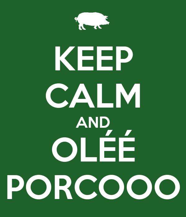 KEEP CALM AND OLÉÉ PORCOOO