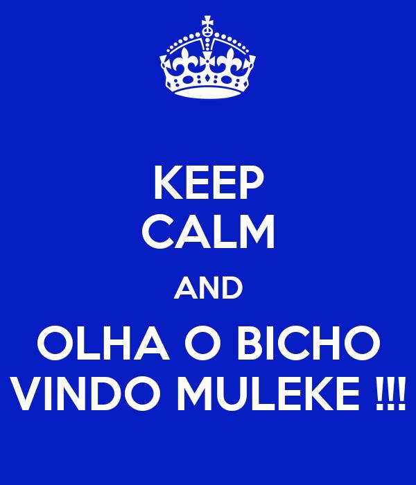 KEEP CALM AND OLHA O BICHO VINDO MULEKE !!!