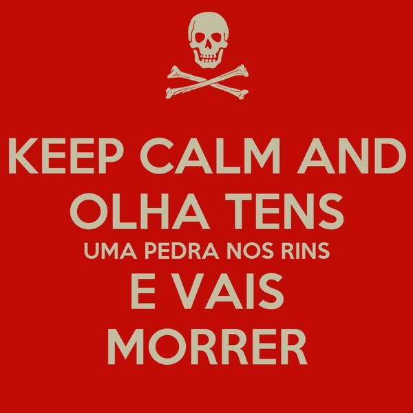 KEEP CALM AND OLHA TENS UMA PEDRA NOS RINS E VAIS MORRER