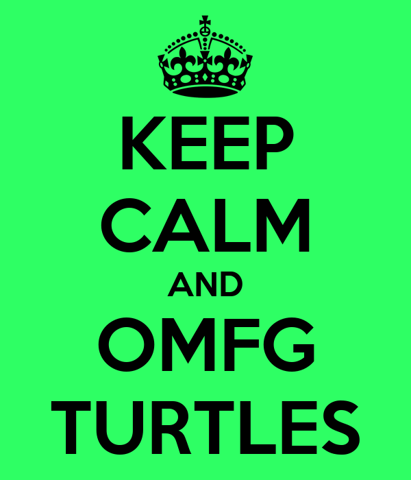KEEP CALM AND OMFG TURTLES
