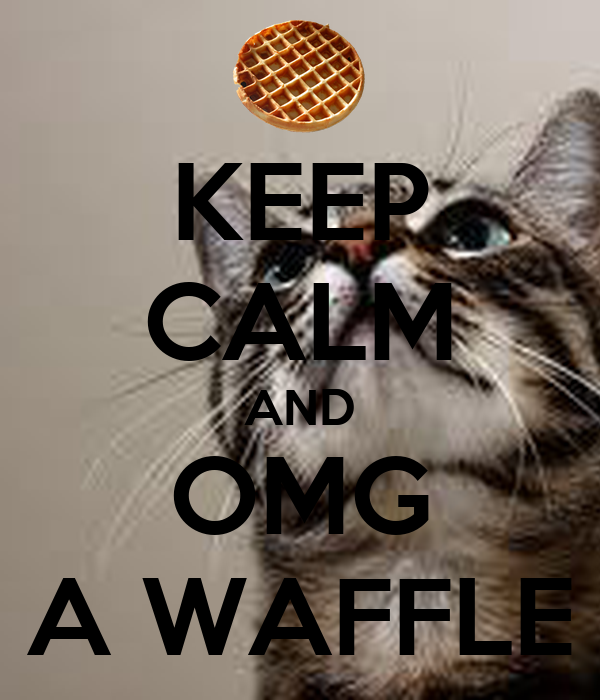 KEEP CALM AND OMG A WAFFLE