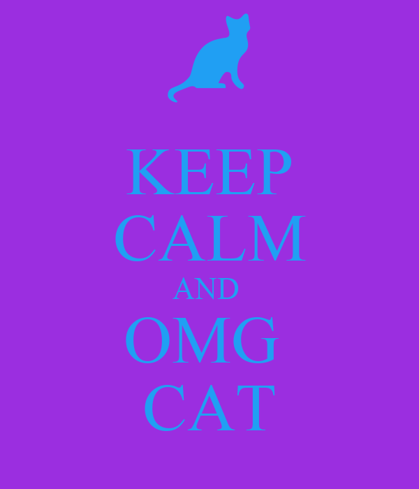 KEEP CALM AND  OMG  CAT